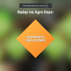 Agro Days 2019 - dołącz do...